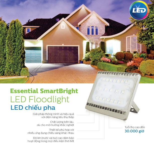 Đèn pha LED Floodlight Philips BVP161 LED55 hoàn hảo cho các giải pháp chiếu sáng pha rọi ngoài trời