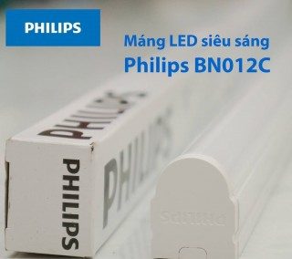 Bộ máng đèn LED T8 Philips 20W Essential SmartBright Slim Batten BN012C LED20/CW L1200