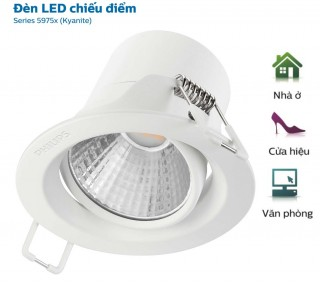 Đèn Downlight Led chiếu điểm Spotlight Philips 59752 Kyanite 5W 4000K